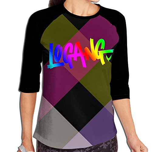 Logan Paul Logang Youtube Followers Parrot Womens Raglan 3/4 Long Sleeves Undershirt
