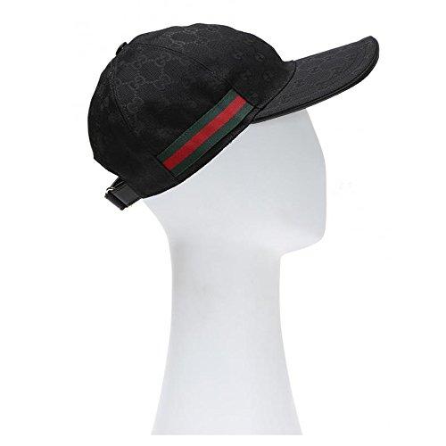 Gucci Signature GG Guccissima Nylon Baseball Cap, Black (X-Large)