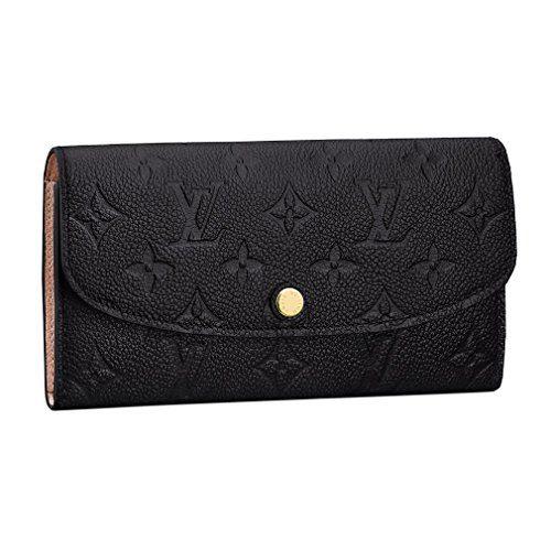 Louis Vuitton Monogram Empreinte Leather Emilie Wallet Noir