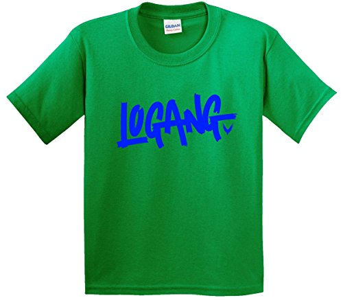 New Way 785 - Youth T-Shirt Logang Logan Paul Maverick Savage Collection Large Kelly Green