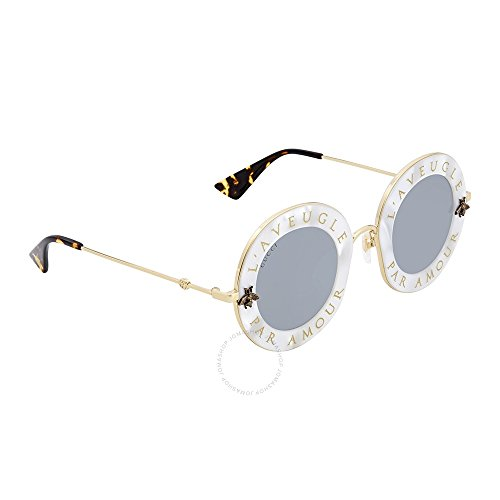 Sunglasses Gucci GG WHITE/SILVER GOLD