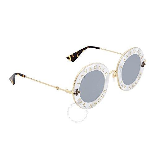Sunglasses Gucci GG WHITE/SILVER GOLD