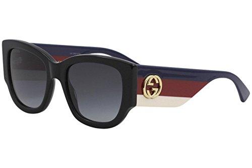 Gucci 001 Black Square Sunglasses Lens Category 3 Size 53mm