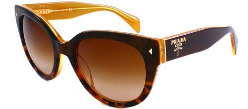 Prada Women's Sunglasses, Top Light Havana/Opal Yellow/Brown Gradient, 54mm