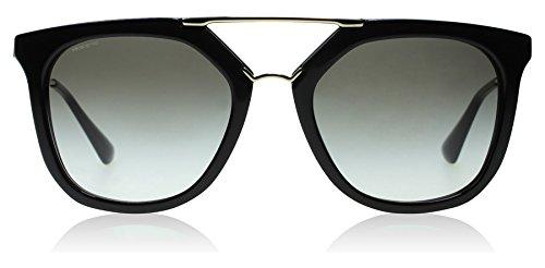 Prada Black / Gold Cinema Pilot Sunglasses Lens Category 2 Size 54m