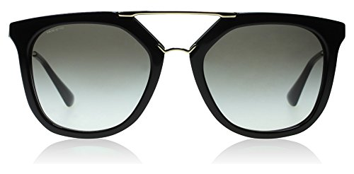 Prada Black / Gold Cinema Pilot Sunglasses Lens Category 2 Size 54m
