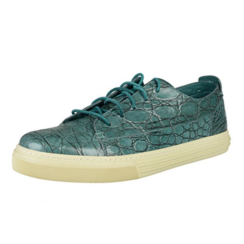Gucci Men's Crocodile Skin Fashion Sneakers Shoes US 10 IT 9 EU 43;