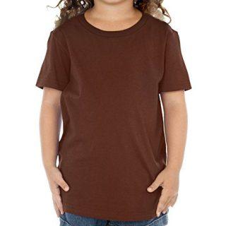 Kavio Toddlers Crew Neck Short Sleeve Tee Brown 3T