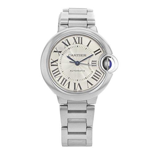 Cartier Ballon Bleu Automatic Silver Flinque Dial Ladies Watch