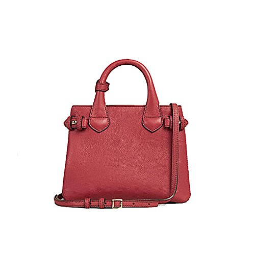 ec09ae7602 Home Shop Women Accessories Handbags & Wallets Tote Bag Handbag Burberry  The Baby Banner in Leather and House Check Ink Russet Red Item 40140751