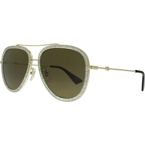 5db2fb2cbeb Gucci Gold Pilot Sunglasses Lens Category 3 Size 57mm Clout Wear ...