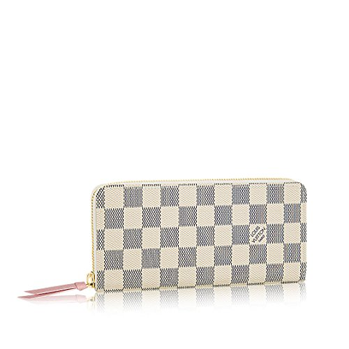 Louis Vuitton Damier Azur Canvas Rose Ballerine Clemence Wallet