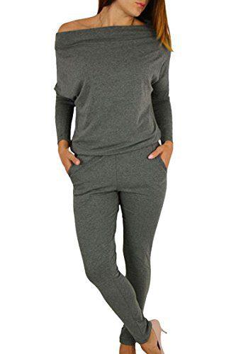 Women's 1PC Trendy Jumpsuit Sleeveless Broken Hole Waisted Club Long Romper Outfit, Medium, 09-grey