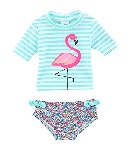 Carter's Baby Girls' Flamingo Rashguard Swimsuit Set 12 Months
