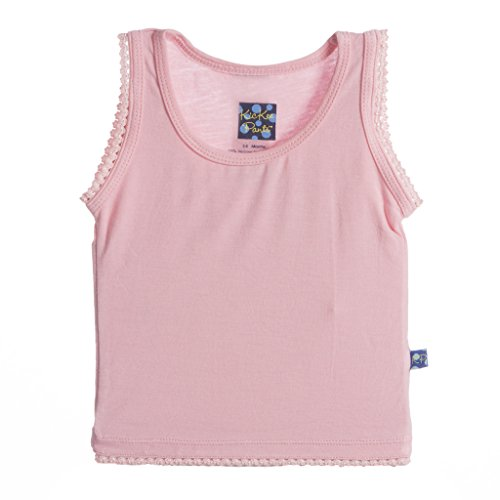 KicKee Pants Little Girls Solid Undershirt Tank, Lotus, 4T
