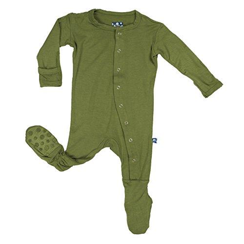 KicKee Pants Baby Boys Footie Pajama- Moss, 3-6 Months