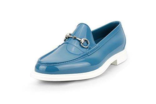 Gucci Men's Rubber Horsebit Loafer, Blue(9.5 US/9 UK)