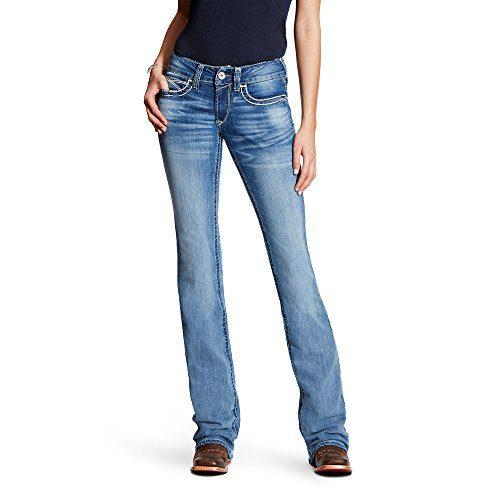 Ariat Women's R.E.A.L. Mid Rise Boot Cut Jean, Heirloom Boardwalk, 28 Long