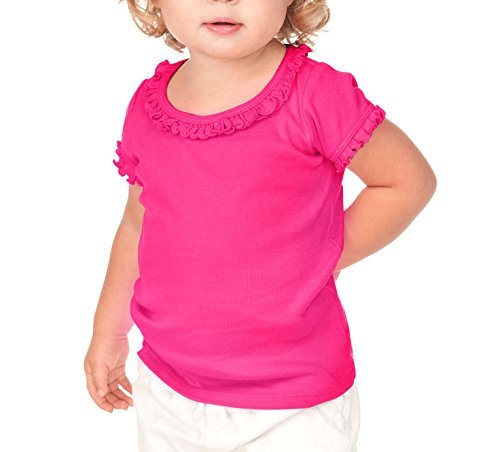 Kavio! Infants Sunflower Short Sleeve Top, Hot Pink, 18 Months