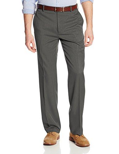 Van Heusen Men's Flat Front Ultimate Traveler Pant, Dark Charcoal, 36W x 34L