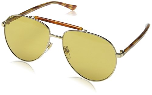 Gucci Fashion Sunglasses, One Size, Gold / Brown / Avana