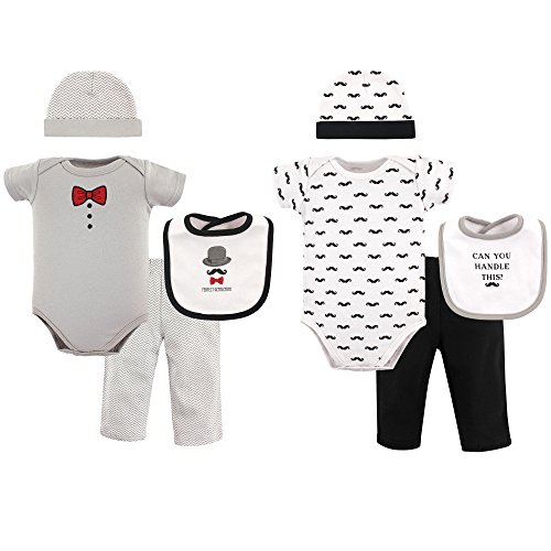 Hudson Baby Baby 8 Piece Grow with Me Box Set, Perfect Gentleman, 0-6 Months