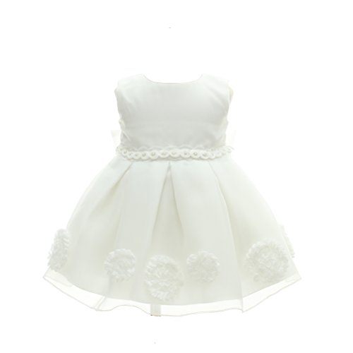 Baby Girl Dress Christening Baptism Gowns Bow Formal Dress