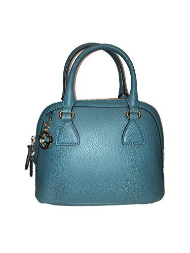 Gucci Women's Leather 2 Way Convertible GG Charm Small Dome Purse (Black)