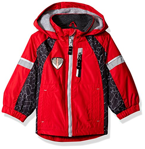 London Fog Baby Fleece Lined Transitional Jacket, Red, 12 Months