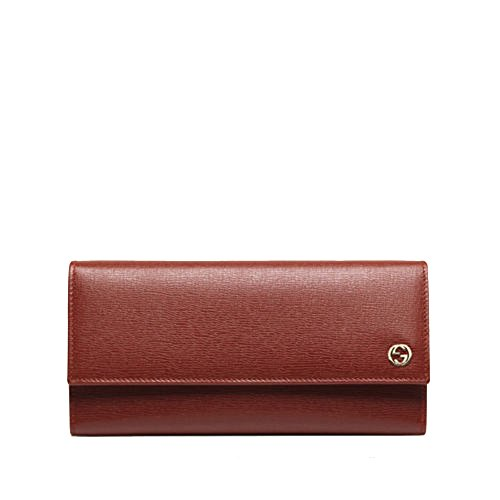 Gucci Women's Red Interlocking G Leather Continental Wallet