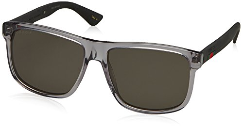Gucci Rectangular / Square Sunglasses Grey/Grey Lens
