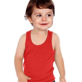 Kavio! Unisex Infants Beater Tank Red 24M