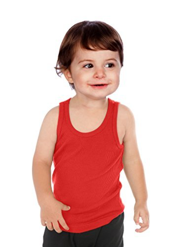 Kavio! Unisex Infants Beater Tank Red 24M