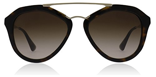 Prada Women's Aviator Sunglasses, Brown/Brown, 54mm