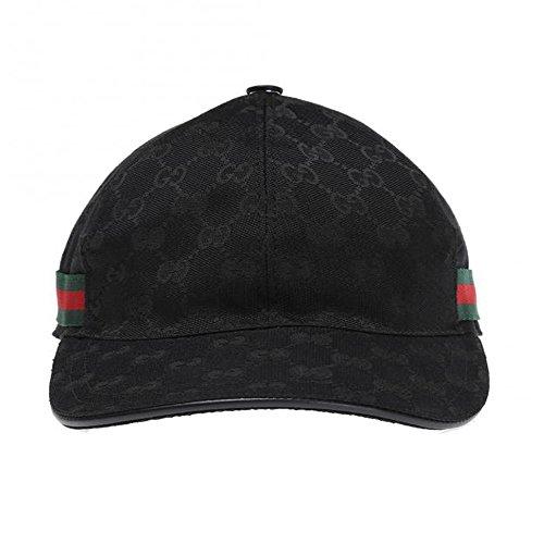 b5b36c9d39b Home Shop Men Accessories Hats   Caps Gucci Signature GG Guccissima Nylon Baseball  Cap