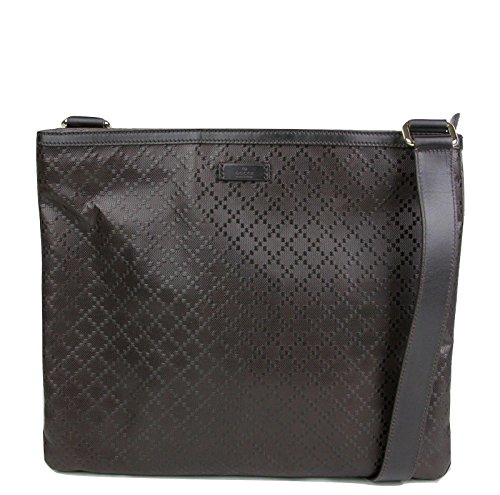 Gucci Hilary Dark Brown Lux Diamante Leather Messenger Bag