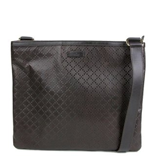 Gucci Hilary Dark Brown Lux Diamante Leather Messenger Bag