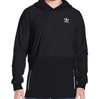 adidas Originals Men's Outerwear Sport Luxe Mix Hoodie, Black, X-Small