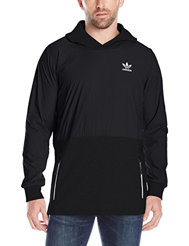 adidas Originals Men's Outerwear Sport Luxe Mix Hoodie, Black, X-Small