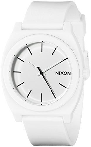 Nixon Unisex Time Teller P Japanese quartz Polyurethane watches Matte White