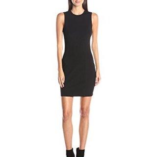A|X Armani Exchange Women's Pique Bodycon Sleeveless Dress, Black, Medium