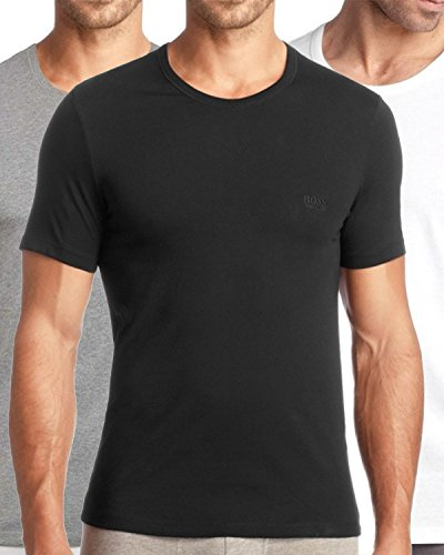 BOSS Hugo Boss Three Pack of Crew Neck T-Shirts Multi Coloured XXL