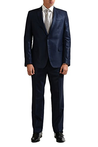 Versace Collection Men's 100% Wool Blue Two Button Suit US 36 IT 46;