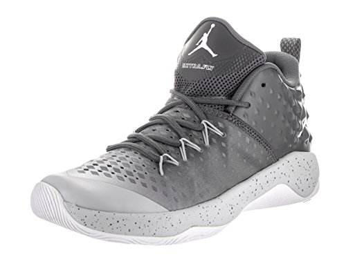 Nike Jordan Mens Jordan Extra Fly Dark Grey/White/Wolf Grey Basketball Shoe 11.5 Men US