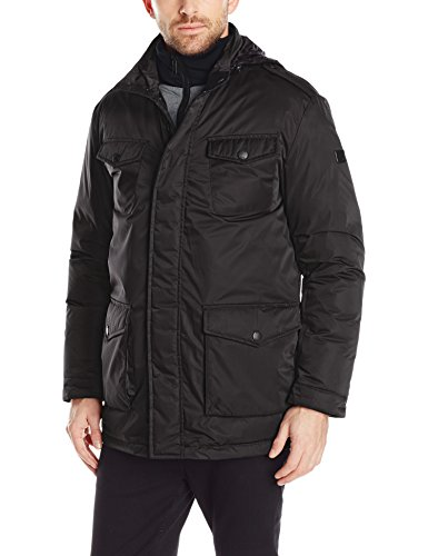 Tumi Men's Signature Lux Poly Jacket with Removable Bib, Black, Large