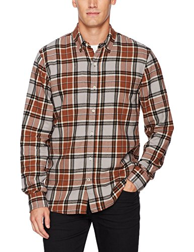 Joe's Jeans Men's Jimmy L/s Twill Woven, Rubber Band Plaid, L