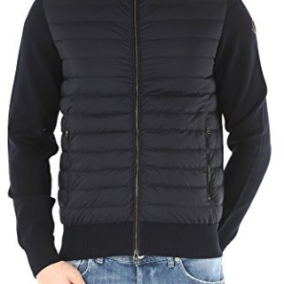 Moncler Men's Blue polyamide Outerwear Jacket