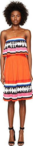 Kate Spade New York Women's Geo Border Pleated Dress Multi 2