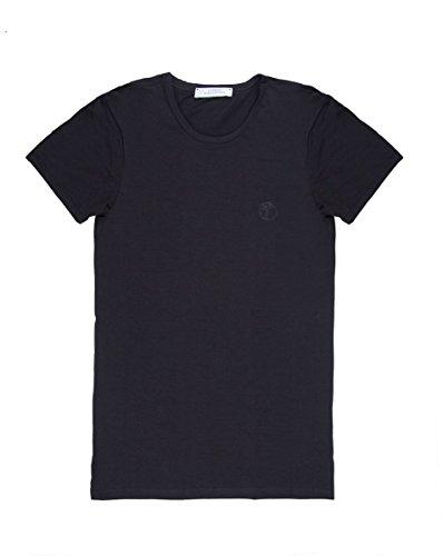 Versace Collection Mens Black Cotton Crew Neck Medusa Undershirt T-shirt Viogco1 (L)