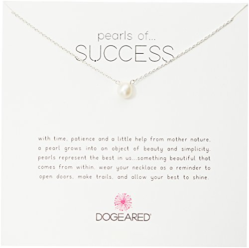 """Dogeared Pearls of Success, Small White Pearl, Silver Chain Necklace, 16""""+2.5"""" Extender"""